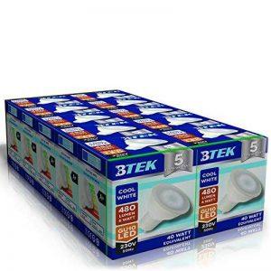 BTEK® 10PC GU10 6W LED Blanc froid AC 230V 50 Hz 480LM 40W lumière spot ampoules à économie d'énergie de haute puissance de lampes Angle du faisceau 120º [Classe énergétique A] de la marque BTEK image 0 produit