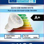BTEK® 10PC GU10 7W LED Blanc froid AC 230V 50 Hz 580LM 45W lumière spot ampoules à économie d'énergie de haute puissance de lampes Angle du faisceau 38º [Classe énergétique A] de la marque BTEK image 2 produit