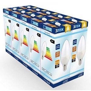 BTEK® (pack de 10) E14 Petit vis Edison 6W (40W ampoule à incandescence équivalente) LED Non-dimmable candle bougie ampoule, blanc chaud givré avec 5 ans de garantie de la marque BTEK image 0 produit