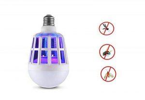 Bug Zapper ampoule, 2 en 1 électronique tueur de moustiques lampe, tueur à la mouche, construit piège à insectes, LED lampe de lumière répulsif anti-moustique pour intérieur en plein air Camping Voyage maison jardin, E27,220V de la marque Amcho image 0 produit