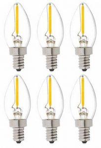 Bulbright 6PACK C7 1W LED Ampoule de Filament Forme classique sphérique ,220V E14 Culot, Blanc Chaud 2700K, Angle de Faisceau 360°, Equivalent à 10 Watt de la marque Bulbright image 0 produit