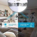 Caméra de Sécurité MECO Wifi 2,4 GHz Ampoule Bulb Fish-Eye LED Lumière 360° Contrôle Panoramique Système de Sécurité à Longue Distance de la Maison, Détection de Mouvement et Voix Téléphonique Bidirectionnel pour IPhone / Téléphone Android / IPad de la ma image 3 produit