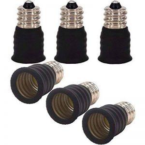 capolida 6pcs E12 à E14 ampoule lampe Base Socket Lampe Adaptateur Convertisseur Support pour convertisseur, LED culot de lampe adaptateur de la marque Capolida image 0 produit