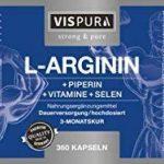 Capsules de L-Arginine À FORT DOSAGE - 360 capsules formule VITALE B6, B12, acide folique, sélénium, pipérine pour 3 mois, produit allemand de qualité supérieure et 30 jours de reprise gratuite de la marque VISPURA image 3 produit