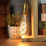 CBJKTX Vintage ampoule LED 4W Edison Ampoules Ambre Verre Filament Led Ampoule Retro Décorative E27 ST64 2200K 400LM 230V modèle Lumière Blanche Chaude Parfait pour la Nostalgie et L'éclairage Rétro (ST64-1er) de la marque CBJKTX image 1 produit