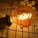 CBJKTX Vintage ampoule LED 4W Edison Ampoules Ambre Verre Filament Led Ampoule Retro Décorative E27 ST64 2200K 400LM 230V modèle Lumière Blanche Chaude Parfait pour la Nostalgie et L'éclairage Rétro (G95-1er) de la marque CBJKTX image 1 produit