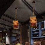 CCYYJJ Pendentif Rétro Style Nostalgique, Lampe Résine Pendentif Punk Retro Lampe E27 Ampoule Bar, Restaurants, Café-Restaurant, Club (Lampe Xénon Non Inclus) Fashion.Z (Taille: #1) de la marque CCYYJJ image 2 produit