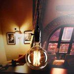 Cflagrant® Grosse Ampoule Rétro XXL Vintage à Incandescence Lampe Edison 40W 220V G125 (∅12,5cm) E27 Lumière Chaude Utilisable sans Abat Jour de la marque Cflagrant image 2 produit