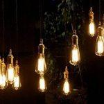 Cflagrant® Pack de 12 Ampoules Rétro Vintage à Incandescence Lampe Edison E27 40W ST64 0% de Mercure Dimmable Lumière Chaude Utilisable sans Abat Jour de la marque Cflagrant image 4 produit