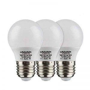 ChiChinLighting 3-pack 12V Ampoule LED, E27Ampoule ampoules LED 12V basse tension ampoules LED Blanc chaud ampoule LED avec High Bright 7W Ampoule ampoule halogène 40W équivalent, blanc, E26, 7.00 wattsW 12.00 voltsV de la marque ChiChinlighting image 0 produit
