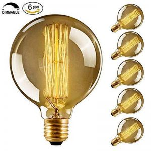 CMYK® Ampoule Vintage Edison Standard 60 mm - Ampoule Deco Design Retro Vintage Incandescence--Lot de 6 de la marque CMYK image 0 produit