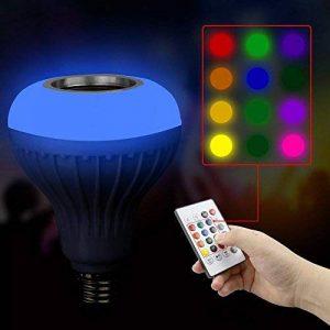 coloré E27Ampoule, Xshuai® Musique ampoule LED avec haut-parleur Bluetooth RGB Haut-parleur audio intégré Size :120*45*90mm blanc de la marque Xshuai image 0 produit