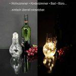 com-four Ampoule en Verre décorative avec 10 LED, Lampe LED alimentée par Batterie, Lampe de Table décorative LED sans Fil, Environ 18,5 x 9 cm (01 pièce - Ampoule) de la marque com-four image 1 produit