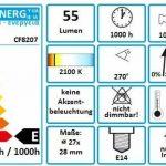 Com-Four Lot Spar 10Ampoule pour réfrigérateur E1415W 230V, blanc chaud 64x 28mm de la marque com-four image 2 produit
