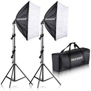 """'Compartiment NEEWER 700W Photographie 24""""x 24/60x 60cm Soft Box avec Enregistrement Kit Culot E27Lampe de lumière pour Photographie de Portraits, Produit de Studio Photo et Vidéo de la marque Neewer image 0 produit"""