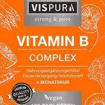 Complexe de vitamine B à dosage ultra-fort 120 comprimés végétaliens toutes les vitamines sans stéarate de magnésium produit allemand de qualité supérieure et 30 jours de reprise gratuite de la marque VISPURA image 4 produit