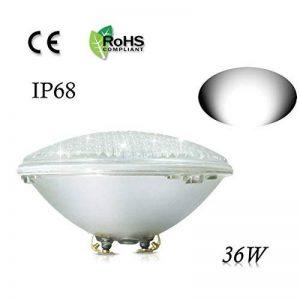COOLWEST 36W Lampe de Piscine LED Blanc Lumière PAR56 12V DC/AC, Etanche IP68 Éclairage sous-marin de la marque COOLWEST image 0 produit
