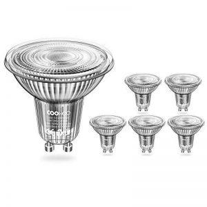 Coowoo MR163000K ampoules LED à intensité variable avec culot GU1050W équivalent halogène de remplacement Blanc chaud 5W AC 220V–240V Spot avec 450lm, 40° Angle de faisceau, Lot de 6unités de la marque COOWOO image 0 produit