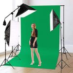 """CRAPHY Kit Éclairage Studio Photo, 2000W Kit Studio Photo complet avec 3x50cmx70cm Softbox + 12x45W Ampoules + 3x80""""(2m) Trépieds + 3 Fonds (vert, blanc, noir) + 2mx3m Support de Fond d'Écran + Sac de Transport de la marque CRAPHY image 1 produit"""