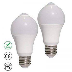 Creation Lot de 2 Pièces E27 Ampoule LED 1000LM 12W PIR Infrarouge Détecteur de Mouvement AC85-265V Bulbe Lumière Blanc Froid [Classe énergétique A+] de la marque Creation image 0 produit
