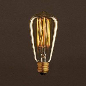 Creative-Cables ac016Ampoule vintage Edison ST64filament de carbone doré à cage 30W E27Dimmable 2000K, multicolore de la marque Creative-Cables image 0 produit