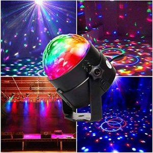 CroLED Eclairage de Scène Lumière Lampe Soirée, Mini Projecteur Scene Spot Ampoule 3LED RGB RVB Boule Cristal à Commande Sonore AC100-240V Ambiance festive DJ KTV de la marque CroLED image 0 produit