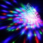 CroLED Eclairage de Scène Lumière Lampe Soirée, Mini Projecteur Scene Spot Ampoule 3LED RGB RVB Boule Cristal à Commande Sonore AC100-240V Ambiance festive DJ KTV de la marque CroLED image 4 produit