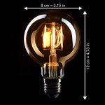 CROWN 3 x Edison ampoules E27, peut être obscurci, 4W, blanc chaud, 230V, EL04, éclairage du filament ancien dans le style rétro vintage de la marque CROWN LED image 4 produit