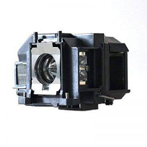 ctlamp Ampoule de projecteur de rechange avec boîtier pour EB-S02/EB-S11/EB-S12/Projecteur eb-sxw11/eb-sxw12/EB-W02/EB-W12/EB-X02/EB-X11/EB-X12Blanc/EB-X14/eb-x15/EH-TW480/EX3210/EX5210/EX7210/MG-50/MG-850HD/PowerLite 1221/PowerLite 1261W/eb-w110/EB-X14 image 0 produit
