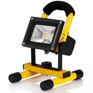 CursOnline® Nouveau Modèle avec deux réglages de luminosité projecteur lED portable et étanche pour extérieur IP65115Batteries rechargeables au lithium de haute qualité de la marque CursOnline image 0 produit