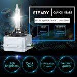 D3S HID Ampoule Lampe Xénon Phare 6000K, 12V 35W, Pack of 2 de la marque CAR ROVER image 1 produit