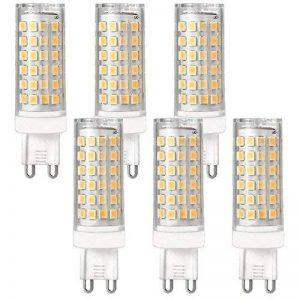 daskoo Lot de 6ne Scintille pas G9LED 12W = 95W Lumière Céramique + PC 76x 2835SMD Blanc chaud AC 220–240V de la marque DASKOO image 0 produit