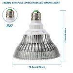 Derlights LED élèvent la lumière 120W, pleine usine de spectre élèvent l'ampoule, 36 pcs LED SMD 3030 éclats culot E27, élèvent la lampe pour la croissance d'intérieur usine de serre chaude de serre usine de la marque Derlights image 1 produit