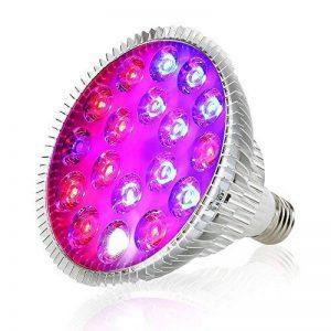 Derlights LED élèvent la lumière 120W, pleine usine de spectre élèvent l'ampoule, 36 pcs LED SMD 3030 éclats culot E27, élèvent la lampe pour la croissance d'intérieur usine de serre chaude de serre usine de la marque Derlights image 0 produit