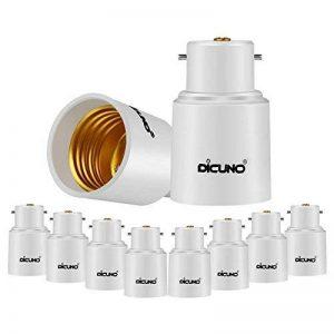 DiCUNO B22 vers E27 Adaptateur de douille de 10 pièces Adaptateur Convertisseur de douille de base de lampe de haute qualité pour ampoules LED et ampoules incandescentes et ampoules fluocompactes de la marque DiCUNO image 0 produit