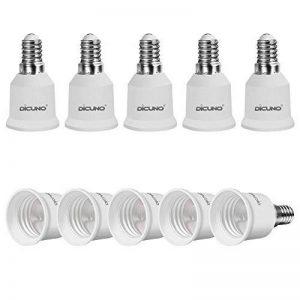 DiCUNO E14 vers E27 Adaptateur de douille de 10 pièces Adaptateur de Convertisseur de douille base de lampe de haute qualité pour ampoules LED et ampoules à incandescence et ampoules fluocompactes de la marque DiCUNO image 0 produit