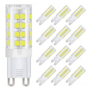 Dicuno G9 Led Ampoules, Base En Céramique, 4W (Equivalent 40W Ampoules Halogènes), 400Lm, Lumière Du Jour 6000K, Culot G9, G9 Ampoules Pour l'Éclairage Domestique, Pack De 12 de la marque DiCUNO image 0 produit