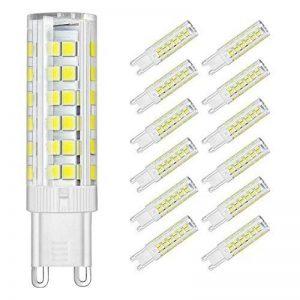 DiCUNO G9 Led Ampoules, Base En Céramique, 6W (Equivalent 60W Ampoules Halogènes), 550Lm (Daylight white, 12p) de la marque DiCUNO image 0 produit