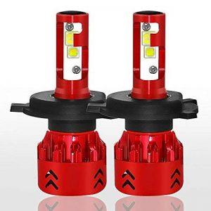 Diesel Auto 9600LM H4/9003/HB2 LED Ampoule Voiture 60W 6000K Lampe Kit LED Cree Blanc Phare 12V/24V - 3 an de garantie (ensemble de 2 ampoule led). de la marque Diesel Auto image 0 produit