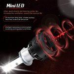 Diesel AutoZone H1 Led Ampoule de Phare w/Philips Chips 9600LM 50W 6000K Blanc Froid, H1 Led Kit de Lampe pour Voiture -Remplacement des Ampoules Xenon(2pcs) de la marque Diesel AutoZone image 4 produit