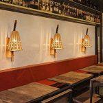 DJL Bambou Tissage Applique murale - Créativité Bambou Lumière Simple Hollow Restaurant Salon de thé Restaurant Allée Japonais Bamboo Applique murale STS de la marque DJL image 3 produit
