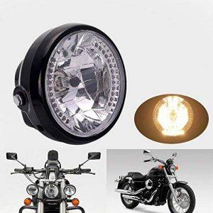 """DLLL 35W 7 """"26 LED Haute Puissance Ampoule halogène-Ambre transparent Halo Lampe frontale Lampe de clignotant et de feux de circulation diurne pour moto de la marque DLLL image 0 produit"""