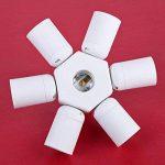 DOMYBEST E27 à 6 + 1 E27 Adaptateur de Douille Ampoules LED Convertisseur de Douille pour Lampes à LED Halogène Economie d'énergie de la marque Domybest image 2 produit