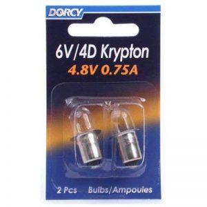Dorcy 6-volt/4d-4.8-volt, 0,75A baïonnette Base Krypton ampoule de rechange, 2-pack (41–1663) de la marque Dorcy image 0 produit