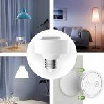 Douille sans fil Ampoule E27 avec télécommande magnétique ON/OFF support collant (LED, Halogène, etc) de la marque Lighting Arena image 1 produit