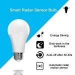 Détecteur de mouvement ampoule, LAKES crépusculaire Sécurité ampoules LED, 7 W Radar Smart ampoule équivalent 60 W, E27 Base Intérieur/extérieur détecteur de mouvement Nuit ampoule, Blanc chaud 3000 K, Auto on/off de la marque LAKES image 2 produit