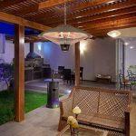 Duramaxx Heizsporn Lampe chauffante Chauffage de Plafond Chauffage Infrarouge Elément Chauffant au Carbone 3 Niveaux : 700, 1300, 2000 W Éclairage LED Diamètre : 60,5 cm IP34 Argent de la marque Duramaxx image 2 produit