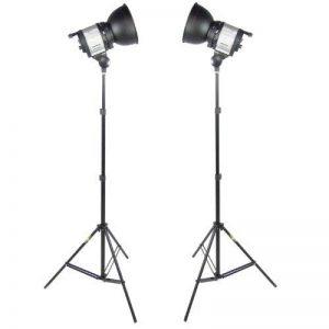 DynaSun 2x QL1000 1000W Kit d'éclairage Studio Photo Vidéo Torche Lumière Continue Quartz Halogène avec 2x Trépied, Ventilateur interne, Régulateur Puissance, Réflecteur de la marque DynaSun image 0 produit