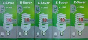 E-es - 5p - 24co 24 W à culot baïonnette B22d Lampe fluorescente compacte ampoule à économie d'énergie de la marque E-Saver image 0 produit