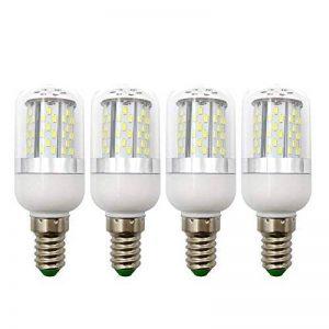 E14Ampoule LED Maïs Ampoule avec couvercle 78–3014SMD AC/DC 12V-24V 5W Explosion Proof Bougie lumières Blanc chaud 3000K (lot de 4) de la marque LIWUTE image 0 produit